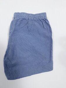 J CREW Women's Blue Striped Seersucker Pull On Cotton Short Sz XS