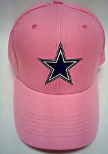 Dallas Cowboys Applique Logo, Heat Applied on a PINK cap hat! Adjustable size!