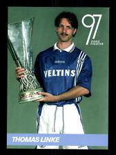 Thomas Linke Autogrammkarte FC Schalke 04 UEFA Pokalsieger 1997 TOP +A 164601 OU