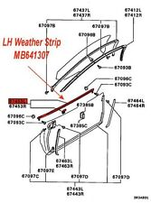 Oem Right & Left Door Outer Belt Molding with Weatherstrip 3000Gt #s 67453L & R(Fits: Dodge Stealth)