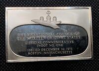 1973 The Bicentennial Council Of The Thirteen Original States Ingot Number 1