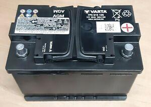 Original VW Audi AGM Varta Batterie 12V 68Ah 380A 680A 7P0915105 11/2019 Top100%