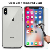 Clear Case For iPhone X XS XR XS MAX Cover Shockproof 360° Silicone Protect BACK