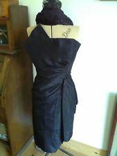 ORIGINAL TRUE VINTAGE 50s BLACK STRAPLESS COCKTAIL DRESS SZ SMALL