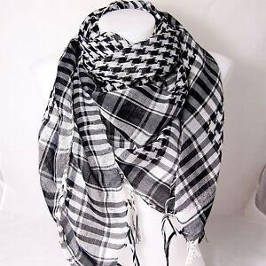 PLO Pali Tuch weiß / schwarz Palästinensertuch Schal Tücher Arafat Palästina