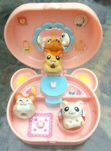 2002 Hamtaro Princess Parlor Play-Set Bijou with 3 Ham Ham Figures (SHIPS FREE!)