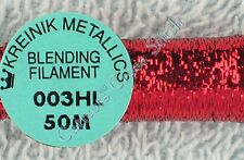 Kreinik Blending Filament 003HL Red Hi Lustre Metallic Thread 50M Cross Stitch