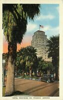 Linen Postcard AZ L369 Hotel Westward Ho Phoenix Palms Motel T Car Cancel 1938