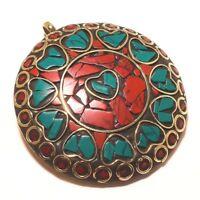 Nice Pendant Mix Color Tibetan Silver Gemstone Handmade Jewellery