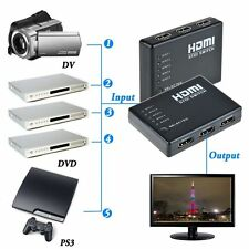 5-port 1080p HDMI Switch Switcher Selector Splitter Hub + iR Remote For HDTV PS3
