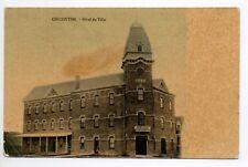CANADA carte postale ancienne CHICOUTIMI Hotel de ville
