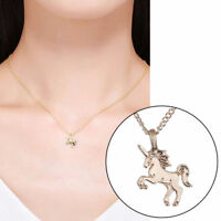 Women Unicorn Pendant Gold Silver Clavicle Chain Necklace Christmas Jewelry Gift
