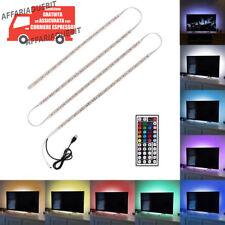 Striscia led multicolore tv lcd usb rgb posteriore 2metri Kit 4x0.5m+telecomando