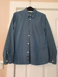 H&M Boys Blue check smart long sleeved shirt - Age 8-9 years