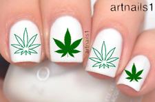 Pot Leaf Weed 420 Marijuana Nail Art Water Decal Sticker Manicure Polish Novelty