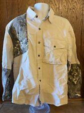 Kakadu Traders Khaki Camouflage Shirt Men Size XL Shooting Long Sleeve Button