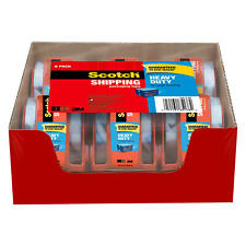 """Scotch Heavy Duty Shipping Packaging Tape Dispensers, 2"""" x 27.7 yd, 6 Pack"""