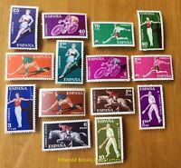 EBS Spain España 1960 Sports - Deportes 1201-1214 MNH** cv $16.00