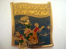 PINS RARE VINTAGE ASSOCIATION LAMBRUISSE L'EMBUSCADE PETANQUE BALL TRAP wxc x