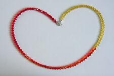 Crystal collana girocollo Fireopal Arancione Swarovski Elements Argento Sterling 925