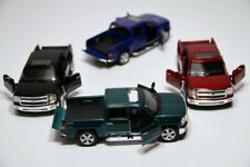 "4PC Set: 5"" Kinsmart 2014 Chevrolet Silverado Truck Diecast Model Toy 1:46 Chevy"