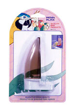 Bird Seed Dispenser Plastic, for horizontal wire. Asst. Colors Parakeet , Finch