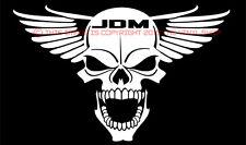 """JDM Winged Skull"" vinyl decal sticker ORIGINAL hella flush ricer,japanese JDM"