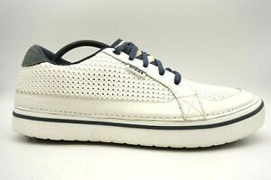Crocs Hank Haney Perforated White Casual Lace Up Spikeless Golf Shoes Men's 13