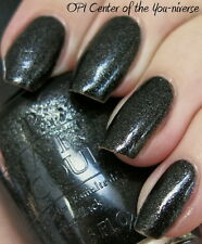 OPI Nail Polish Vernis CENTER OF THE YOU-NIVERSE ~ Black + Black/Silver Shimmer