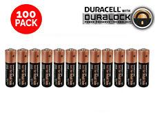 100 AA Alkaline Duracell Batteries 1.5v WHOLESALE Bulk Battery Lot Exp. 2024