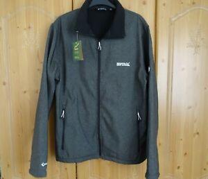 Regatta Mens Soft Shell Windproof Water Repellent Jacket Coat Size L BNWT