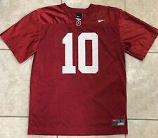 Alabama Nike Red Jersey # 10 Youth Size Large 16 / 18 McCarron Reuben Foster