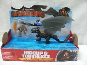 HOW TO TRAIN YOUR DRAGON TOOTHLESS & HICCUP DRAGON RIDER PLAY SET FIGURES TOY