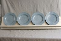 Mikasa Ultrastone COUNTRY BLUE Salad Plates 4PC Speckled Granite Farmhouse Chic