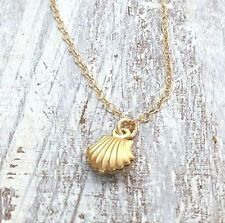 14K Yellow Gold Filled Pendant Necklace Shell Charm
