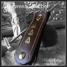 Müller&Son 3 Buddhas Genuine Horween Leather Key Chain Key Ring Handmade in USA
