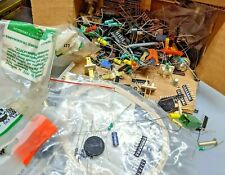 """6x3x3"""" grab bag box of electronic parts, components, hardware for Diy"""