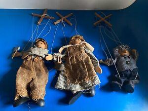 Vintage marionette puppets puppet string marionettes