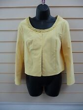 LADIES JACKET YELLOW SIZE10 TAILORED LINED CROPPED FORMAL BNWT