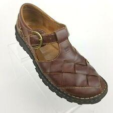 bf641d6f18a8 Josef Seibel Brown Leather Fisherman Style Comfort Sandals Women EU 38 US  7.5