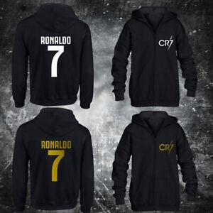 CR7 ZIP HOODIE kids forza football ronaldo soccer gift cristiano