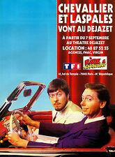 Publicité Advertising 1995  CHEVALIER ET LASPALES avec RIRE & CHANSONS