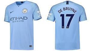 Manchester City Football Shirt Men's Nike Home Shirt - De Bruyne 17 - New