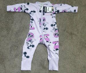 BNWT BONDS Unisex Disney Mickey Mermaid Mist Lilac Zippy Wondersuit - Size 000