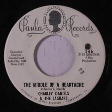 CHARLIE DANIELS & JAGUARS: The Middle Of A Heartache / Skip It 45 Hear! (co)