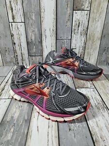Brooks Adrenaline GTS 17 Women's Running Shoes Size 9.5 Wide B Gray Peach Pink