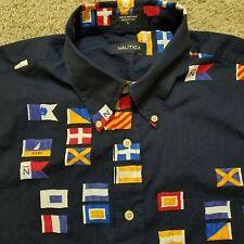 Nautica LT Short Sleeve Nautical Shirt Navy