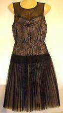 Mango Dress Vintage style black lace cocktail dress XS