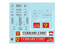 F1 DECALS MUSEUM COLLECTION D429 1/43 FOR FERRARI F2007 TOBACCO DECAL