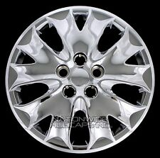 "4 Chrome 2013 2014 Ford Fusion S 16"" Wheel Covers Bolt On Full Rim Hub Caps New"